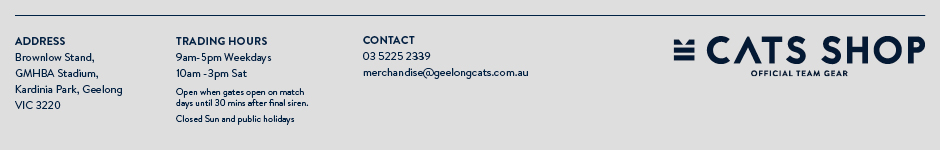 Geelong Cats Online Auctions Contact Us
