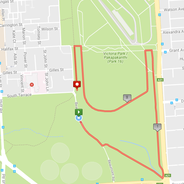 Run in the Park Map
